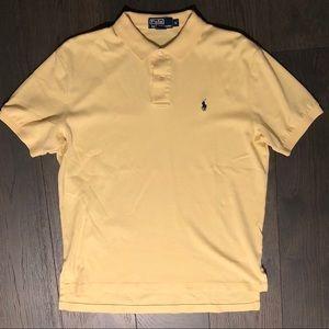 Mens Polo Ralph Lauren Yellow Collared Shirt Med